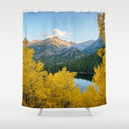 BEAR LAKE COLORADO AUTUMN ROCKY MOUNTAIN NATIONAL PARK FALL LANDSCAPE PHOTOGRAPHY Shower Curtain