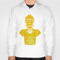 starwars Hoodies featuring StarWars C3PO by Joshua A. Biron