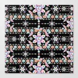 Folkloric Snowflakes Canvas Print