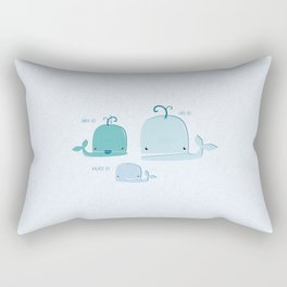 whale family Rectangular Pillow