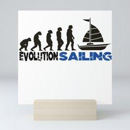 Evolution Sailing Mini Art Print