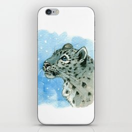 Snow Leopard & snowflakes 860 iPhone Skin