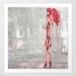"""Abstract Girl in the Rain No.4"" Art Print"