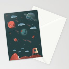 Moon Poster Stationery Cards