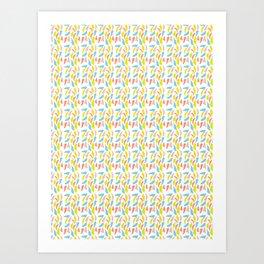 Ditsy Party Confetti Sprinkles Art Print