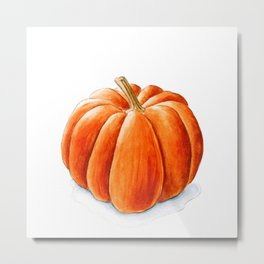 Pumpkin in watercolor Metal Print
