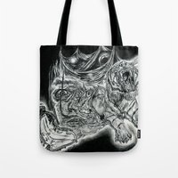 salvador dali Tote Bags featuring Salvador Dali by Art & Ink