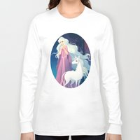 the last unicorn Long Sleeve T-shirts featuring The Last Unicorn by Tami Wicinas
