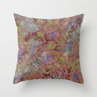 jungle Throw Pillows featuring Jungle by Laura Sturdy