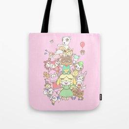 Animal Crossing (pink) Tote Bag