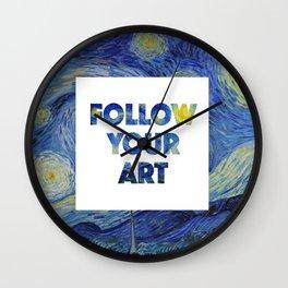 Follow Your Art Wall Clock