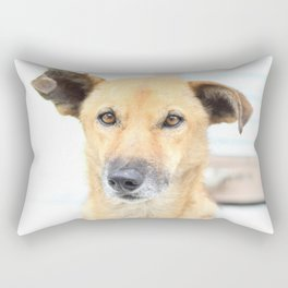 Floppy Ear Puppy Rectangular Pillow