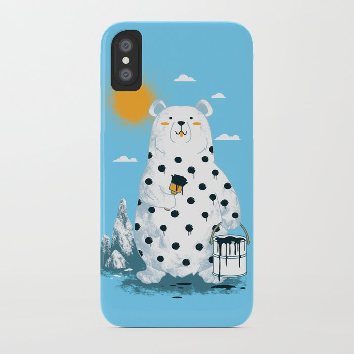 polka bear iPhone Case