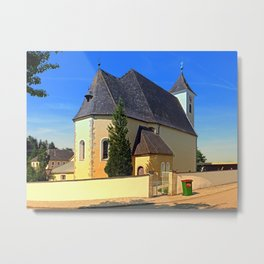 The village church of Sankt Stefan II | architectural photography Metal Print