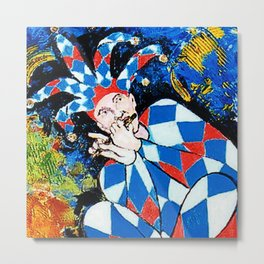 DONJON: Mischievous Harlequin       by Kay Lipton Metal Print