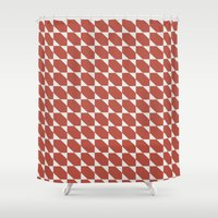 orange pattern Shower Curtains featuring Orange Pattern by Caite Schultz
