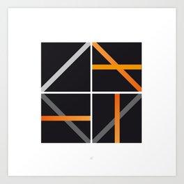 minimal arancio Art Print