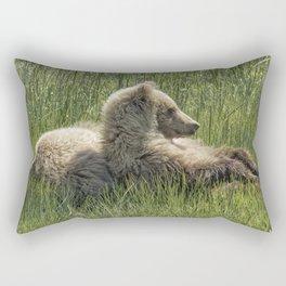 Settling Down Again - Bear Cubs, No. 6 Rectangular Pillow