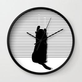 Cat Scratch Wall Clock