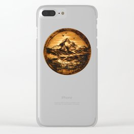 Wood-burn Wanderlust Clear iPhone Case