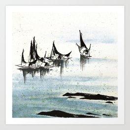 Three Boats Art Print