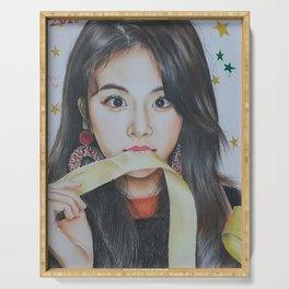 Kpop Twice cheayoung Fanart Serving Tray