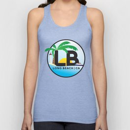 Long Beach CA Logo Design Unisex Tank Top