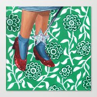 dorothy Canvas Prints featuring Dorothy by gasbombgirl