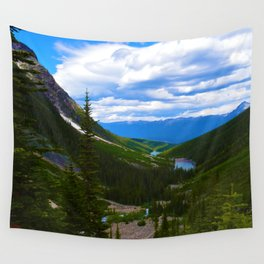 Looking over lower Geraldine Lakes in Jasper National Park, Canada Wall Tapestry