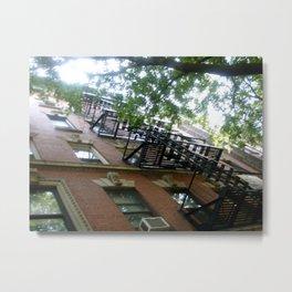 Greenwich Village Fire Escapes Metal Print