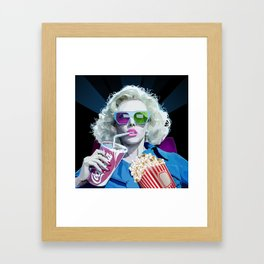 Watching Movie Framed Art Print