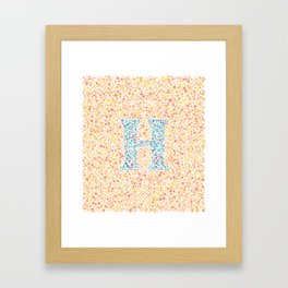 """H"" Eye Test Full Framed Art Print"