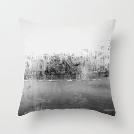 A través del cristal (black and white version) Throw Pillow