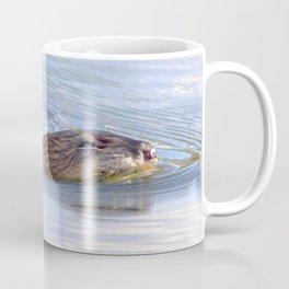 Watercolor Muskrat 03, Pella Crossing, Boulder County, Colorado Coffee Mug