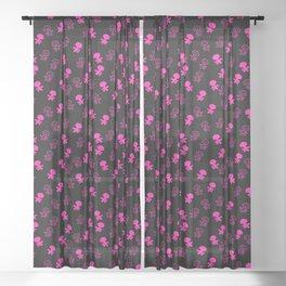 Aliens-Pink Sheer Curtain