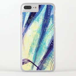 Yucca Leaves Clear iPhone Case