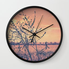 Imperfect Beauty (Beginning of Spring, California Countryside Farm) Wall Clock