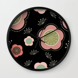 Japanese-inspired Plum Blossoms Wall Clock