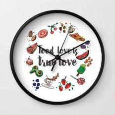 Food love is true Love Wall Clock