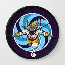 Hanuman Vantage Point Wall Clock