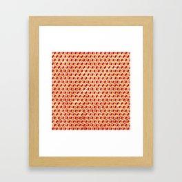 Xmas Geometric Hexagon Pattern Framed Art Print