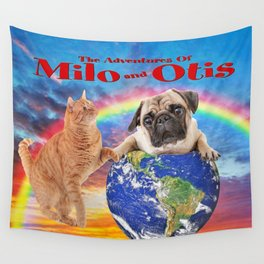 Milo And Otis Take On The World Wall Tapestry