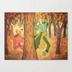Falling for U Canvas Print