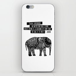 Blessing Buddha Quote iPhone Skin