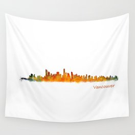 Vancouver Canada City Skyline Hq v01 Wall Tapestry