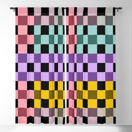 Colorful Checker 03 Blackout Curtain