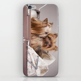 Yorkshire terrier dogs kiss iPhone Skin