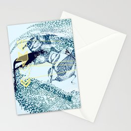 Abstract Bird Series - Murmuration Stationery Cards