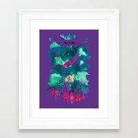 life aquatic Framed Art Prints featuring Life Aquatic by Xavier Palin
