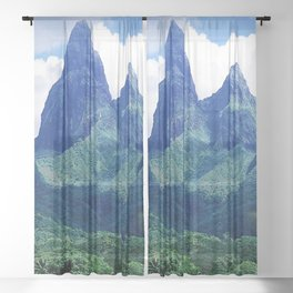 The Land That Time Forgot: Marquesas Tropical Islands Sheer Curtain